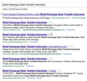 siapakah pemenang Mobil Keluarga Ideal Terbaik Indonesia?